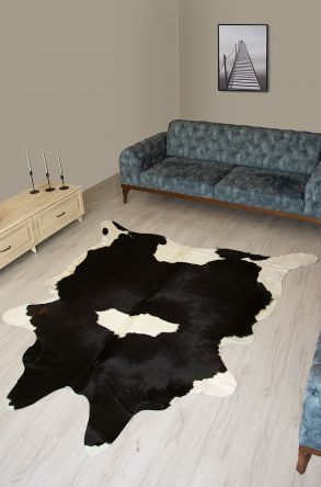 Pegia Genuine Cowhide Leather Carpet FST076 Natural