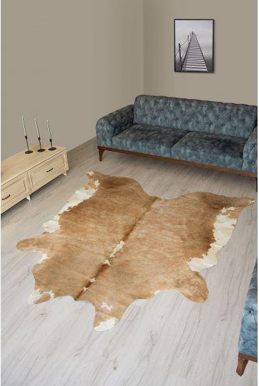Pegia Genuine Cowhide Leather Carpet FST077 Natural