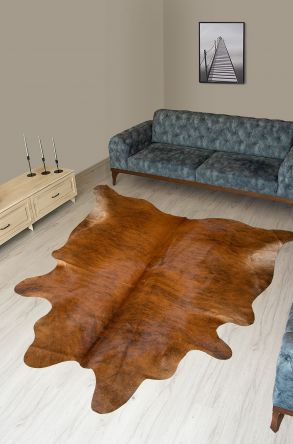Pegia Genuine Cowhide Leather Carpet FST082 Natural