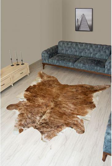 Pegia Genuine Cowhide Leather Carpet FST083 Natural