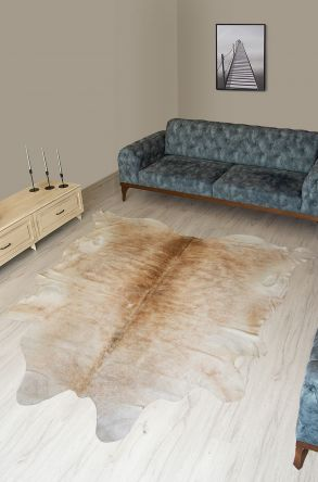 Pegia Genuine Cowhide Leather Carpet FST085 Natural