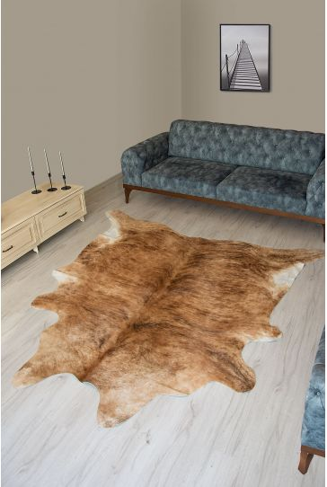 Pegia Genuine Cowhide Leather Carpet FST086 Natural