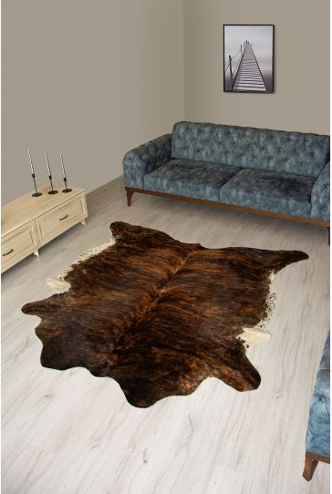 Pegia Genuine Cowhide Leather Carpet FST087 Natural
