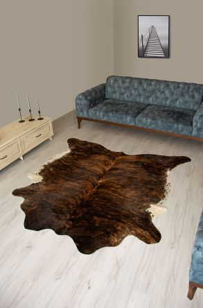 Pegia Genuine Cowhide Leather Carpet FST087 Natural