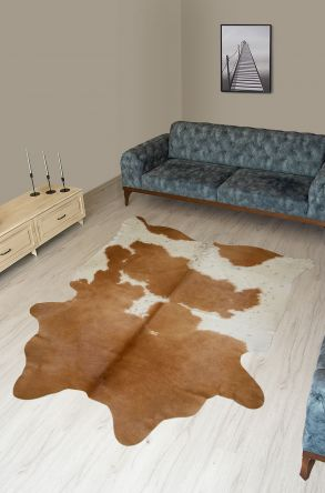 Pegia Genuine Cowhide Leather Carpet FST091 Natural