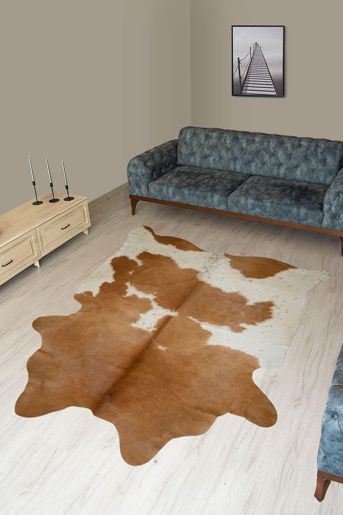 Pegia Genuine Cowhide Leather Carpet FST091 Natural