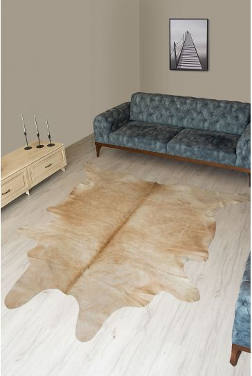 Pegia Genuine Cowhide Leather Carpet FST092 Natural