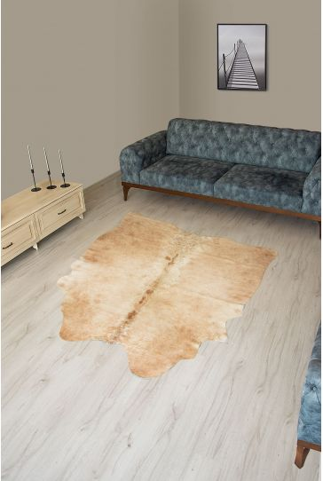 Pegia Genuine Cowhide Leather Carpet FST094 Natural