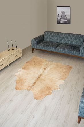 Pegia Genuine Cowhide Leather Carpet FST094 Natural