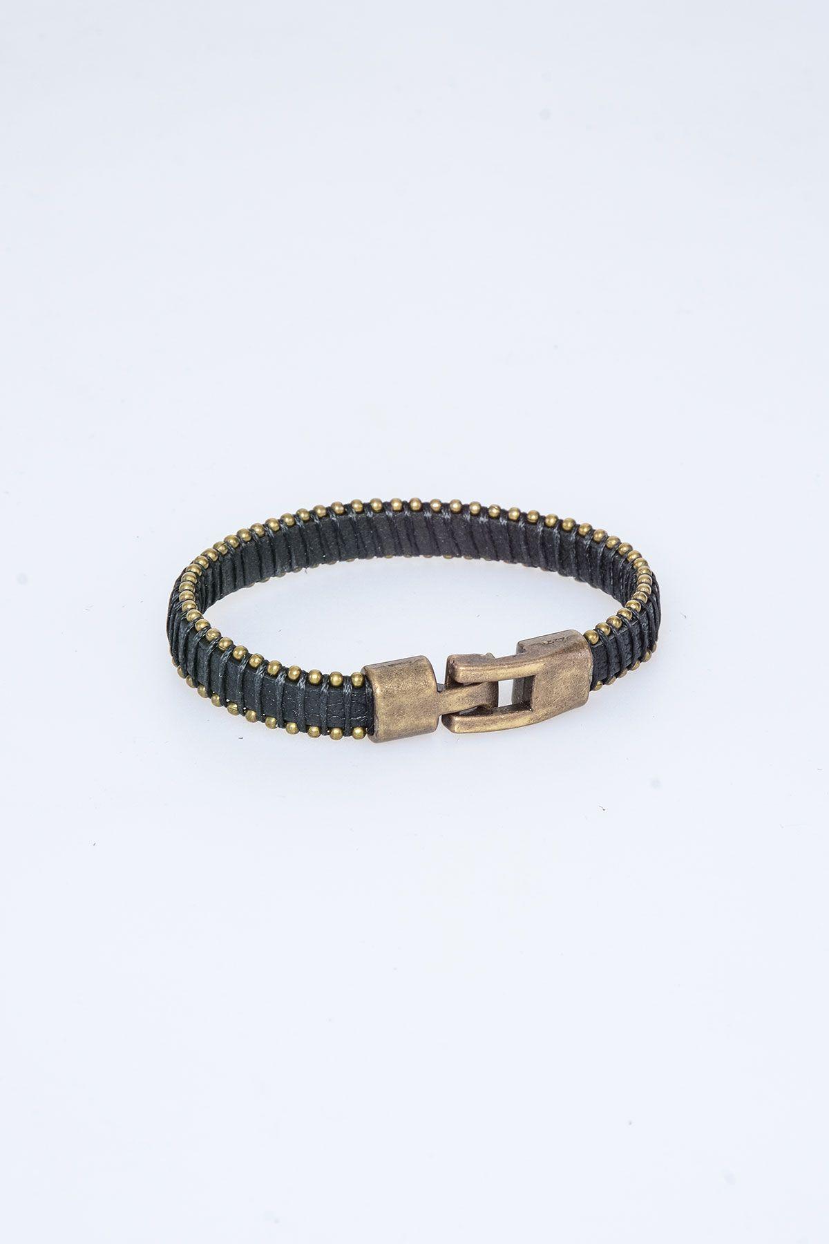 Pegia Genuine Leather Bracelet 19BL01 Black