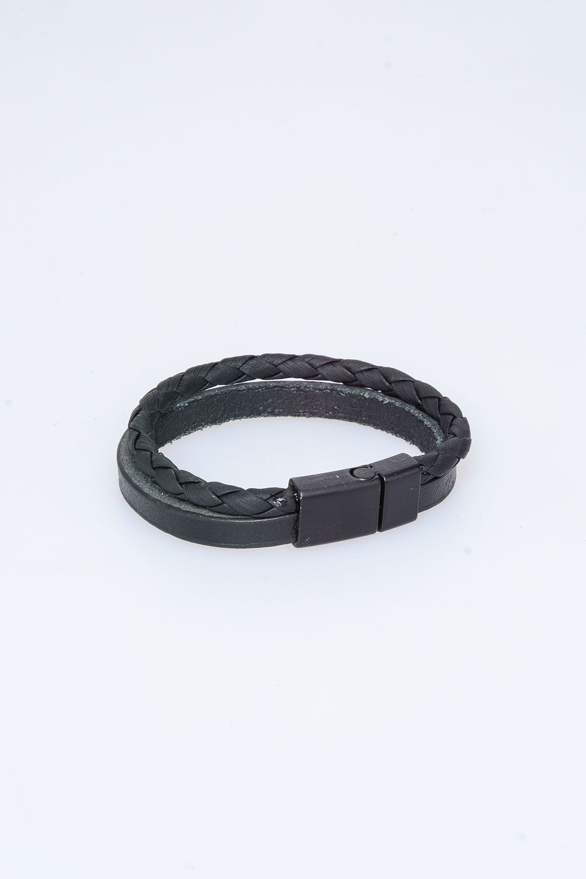 Pegia Genuine Leather Bracelet 19BL04 Black