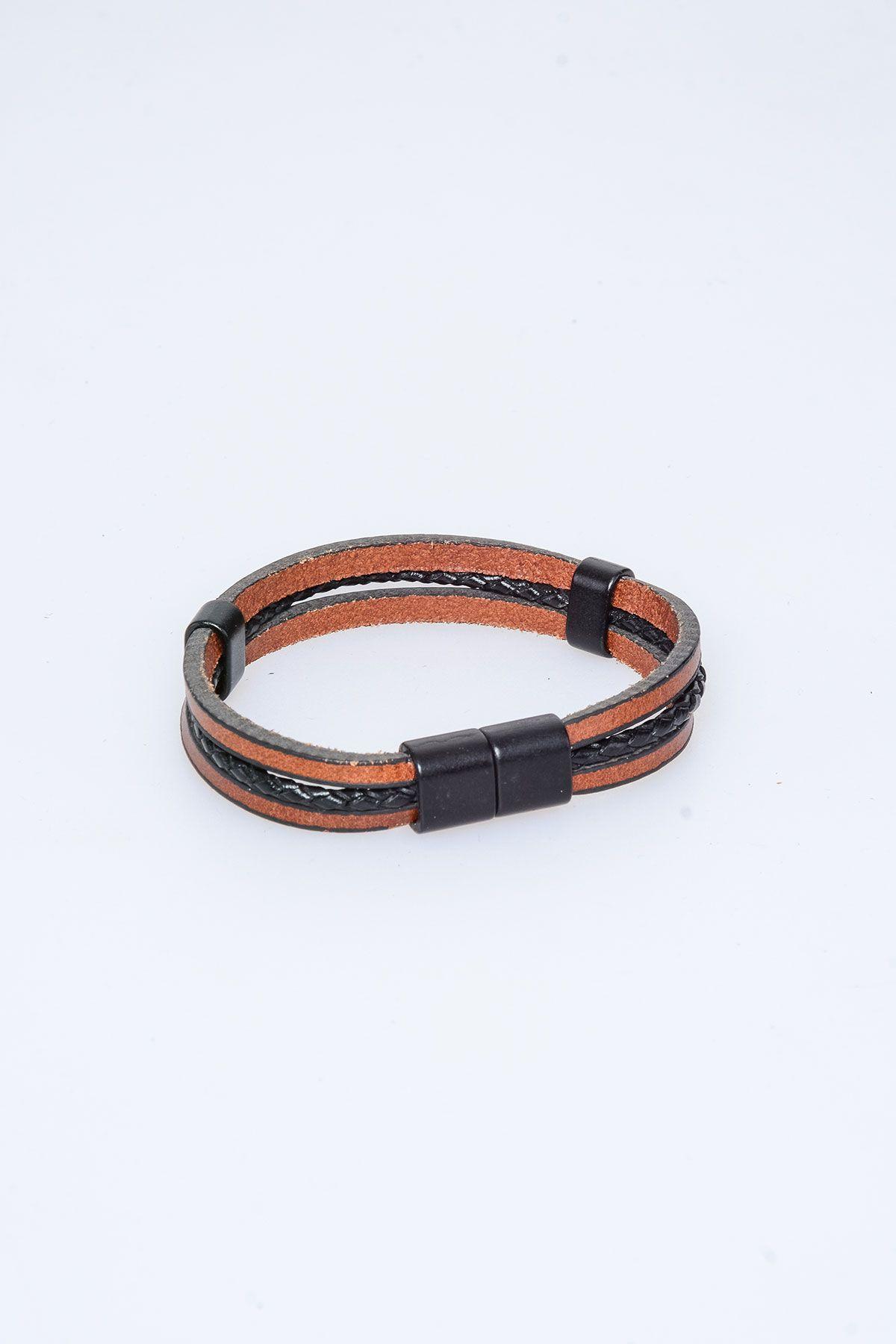 Pegia Genuine Leather Bracelet 19BL06 Black