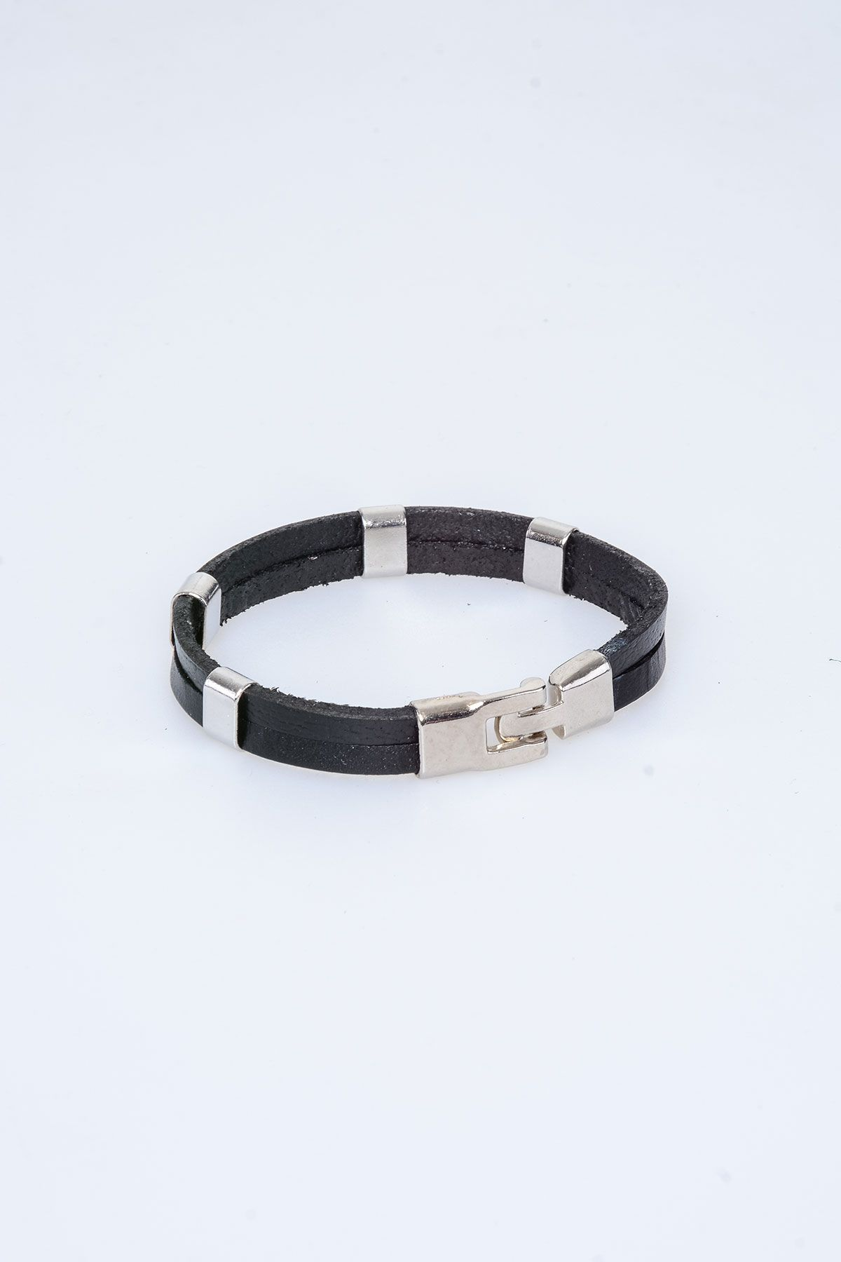 Pegia Genuine Leather Bracelet 19BL19 Black