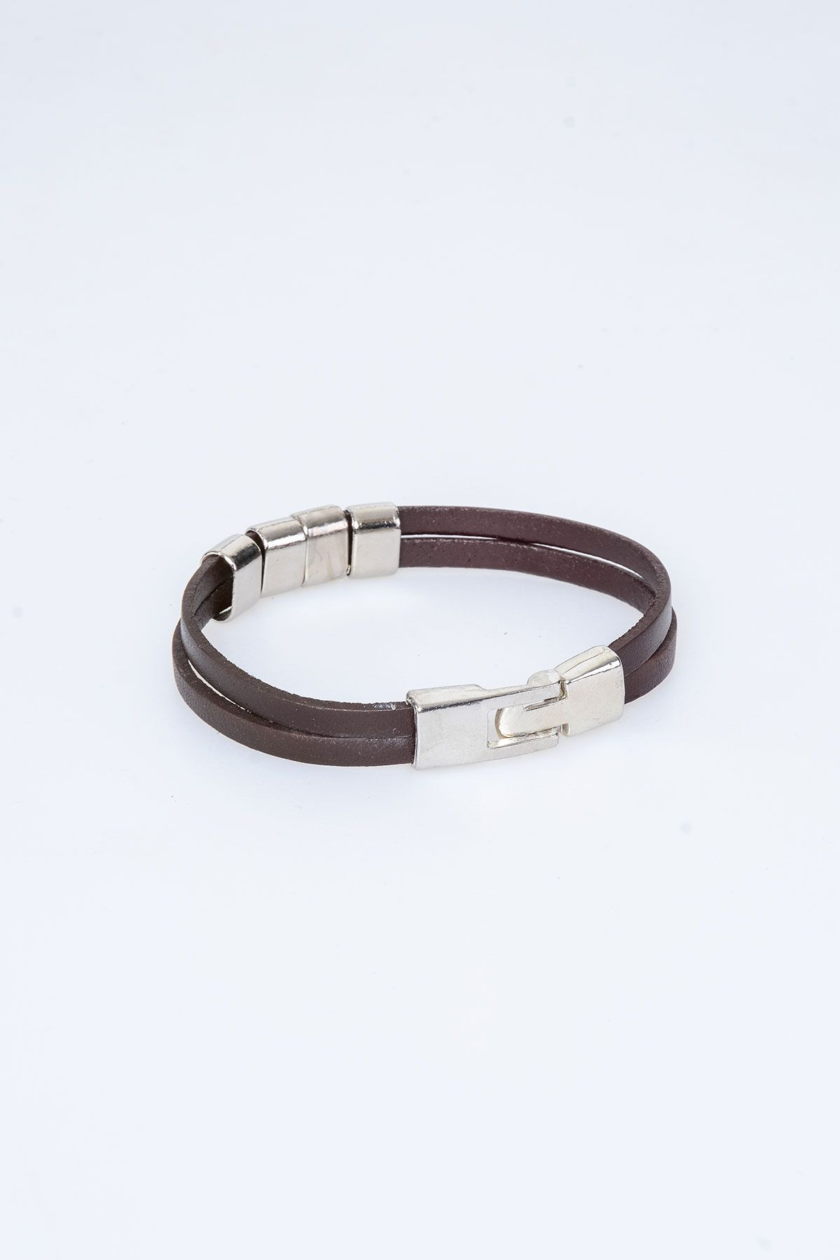 Pegia Genuine Leather Bracelet 19BL19 Brown
