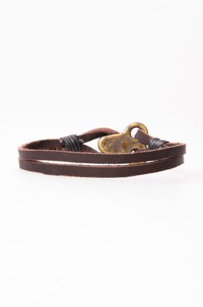Pegia Genuine Leather Bracelet 19BL28 Brown