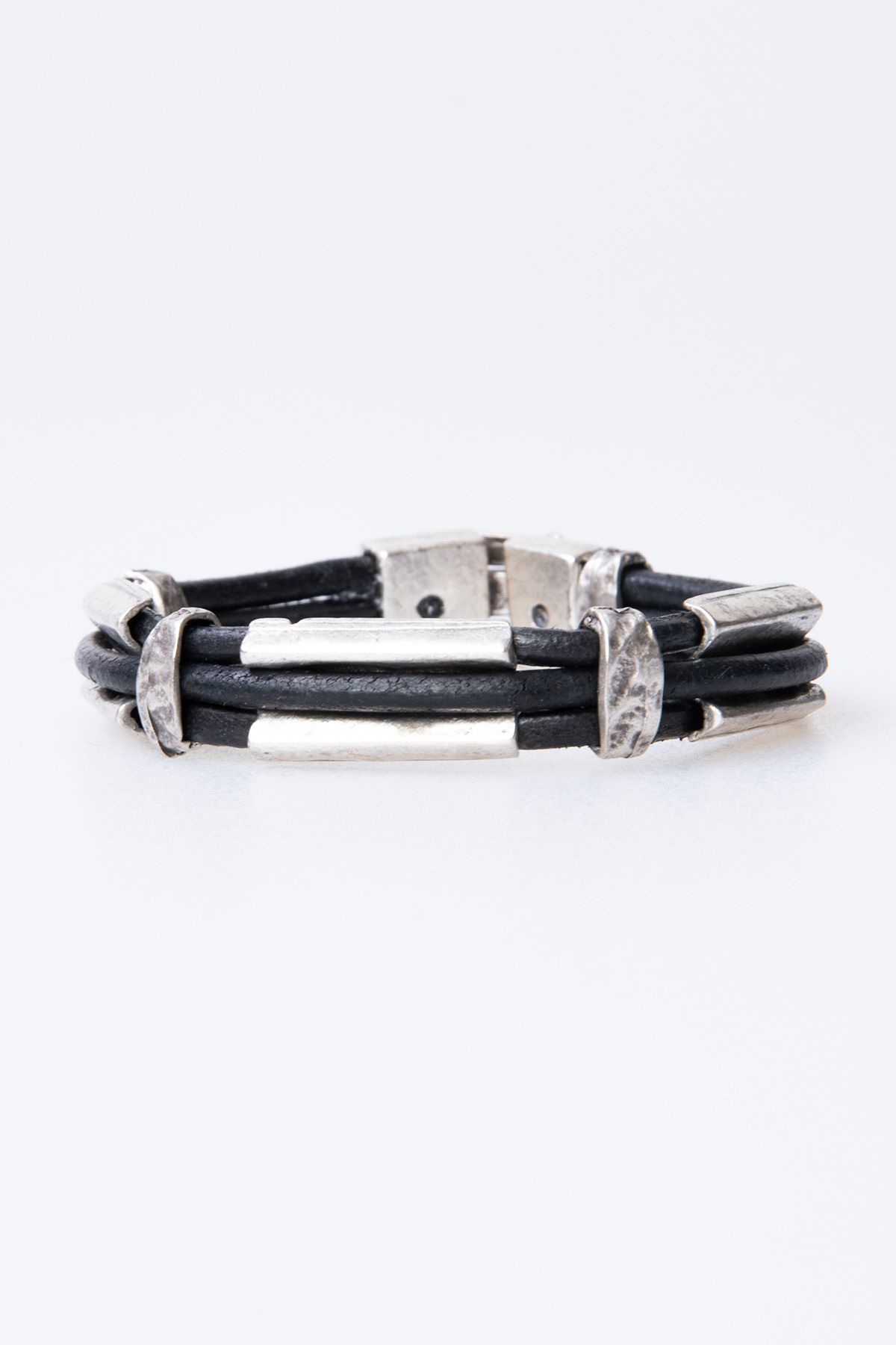 Pegia Genuine Leather Bracelet 19BL30 Black