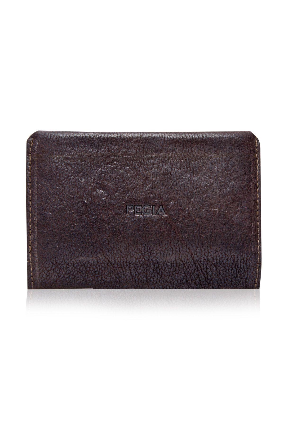 Pegia Genuine Leather Big Size Wallet 19CZ300 Brown