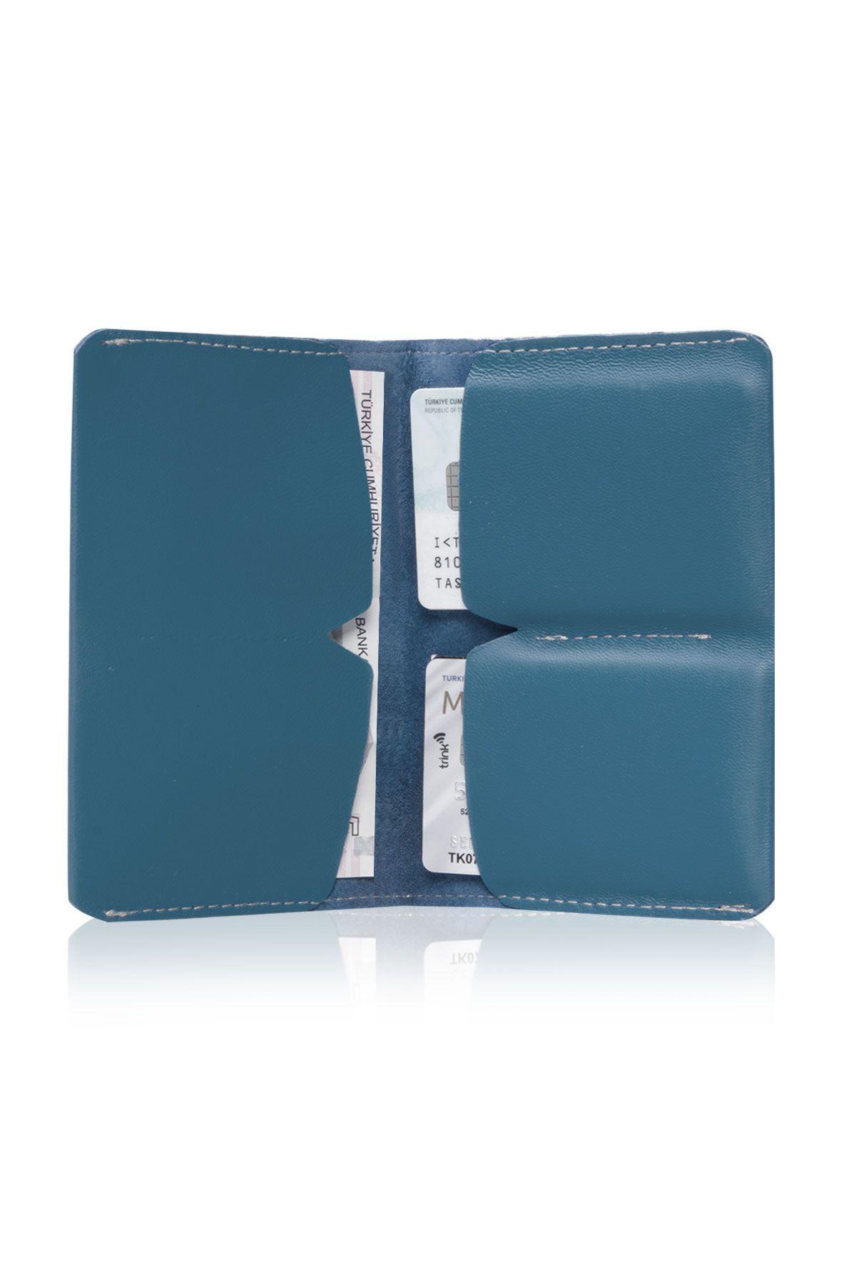 Pegia Hakiki Deri Büyük Boy Cüzdan 19CZ301 Turquoise
