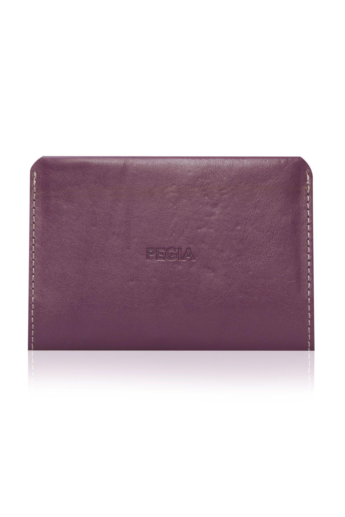 Pegia Hakiki Deri Büyük Boy Cüzdan 19CZ301 Purple