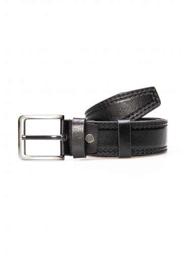 Pegia Genuine Leather Men's Belt 19KMR01 Black