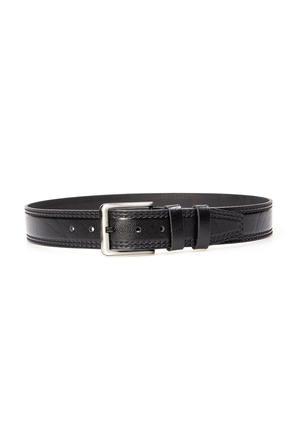 Pegia Genuine Leather Men's Belt 19KMR01 Black