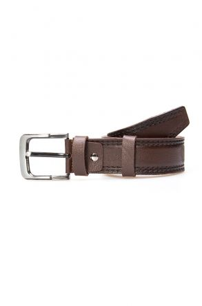 Pegia Genuine Leather Men's Belt 19KMR01 Brown