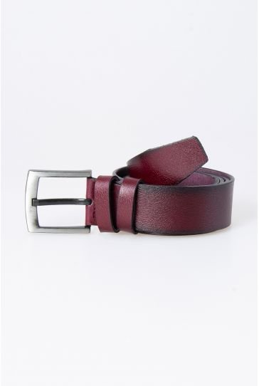 Pegia Original Leather Men's Belt 19KMR03 Claret red