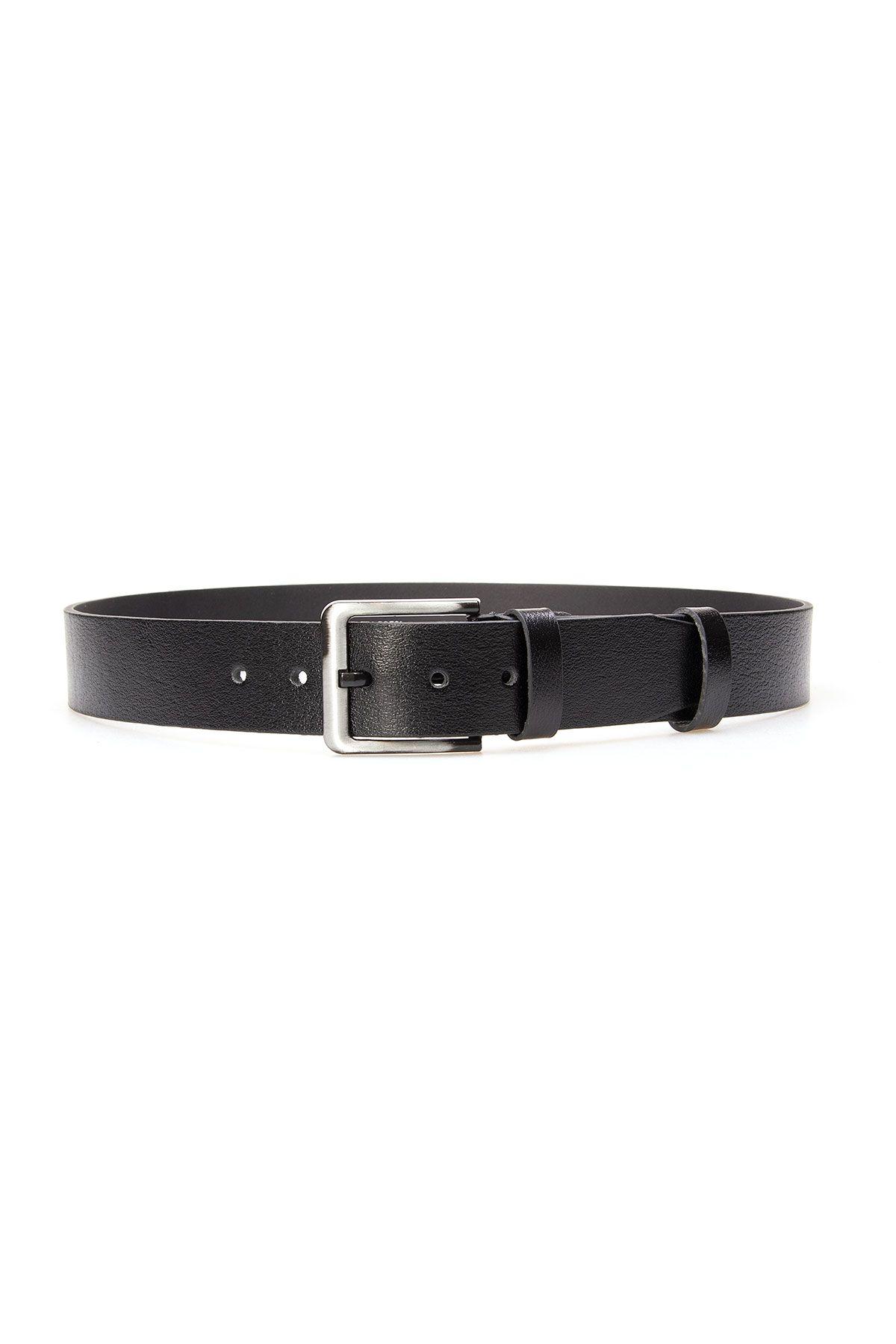 Pegia Original Leather Men's Belt 19KMR03 Black