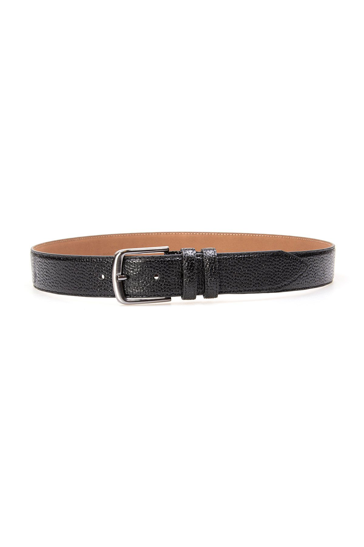Pegia Men's Genuine Leather Belt 19KMR05 Black