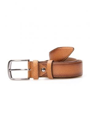 Pegia Men's Genuine Leather Belt 19KMR05 Ginger