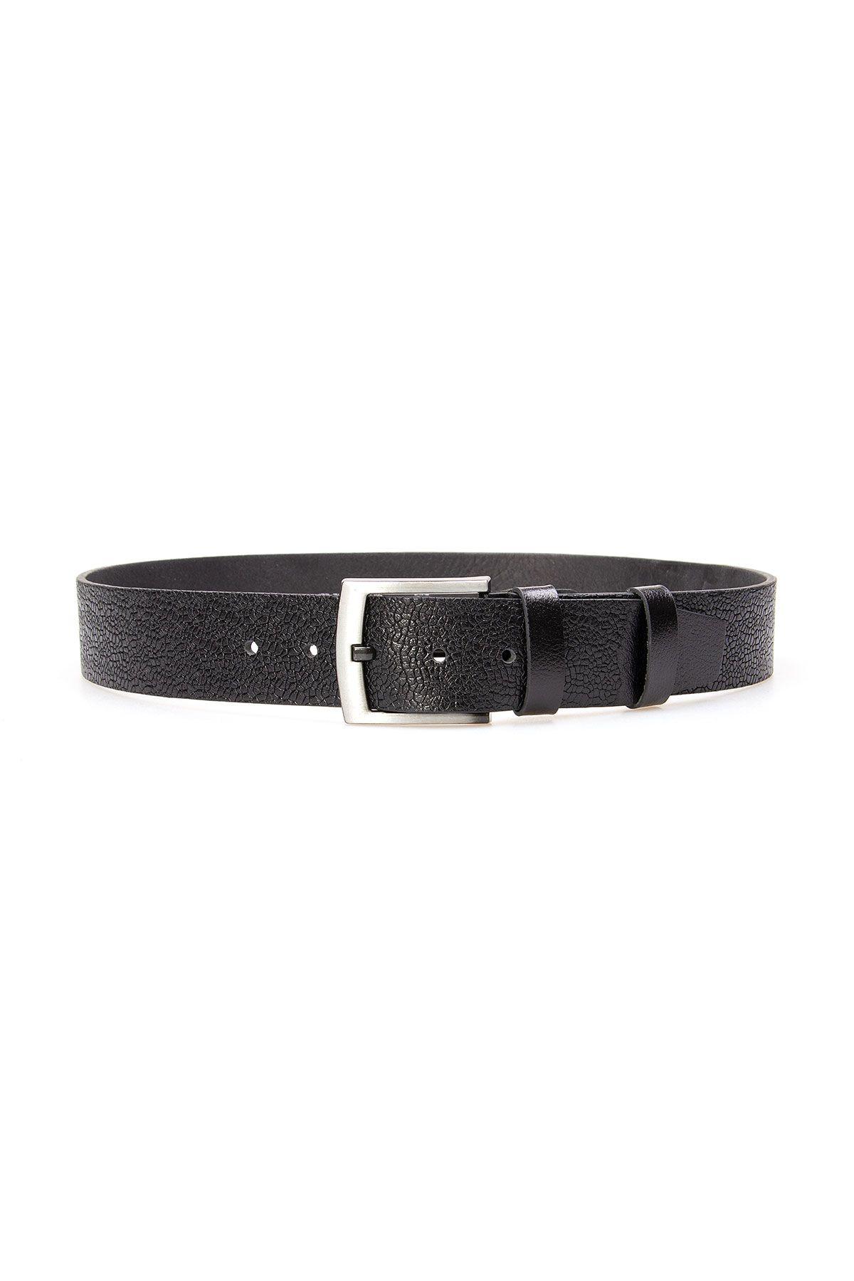 Pegia Men's Genuine Leather Belt 19KMR06 Black