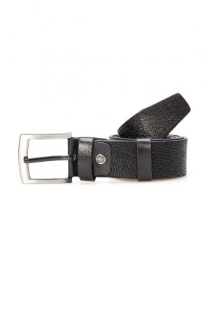 Pegia Men's Genuine Leather Belt 19KMR06 Black