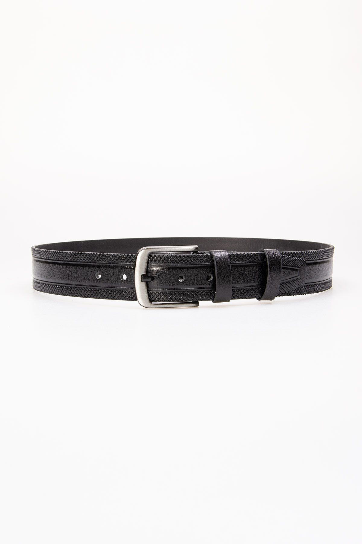 Pegia Men's Genuine Leather Belt 19KMR07 Black