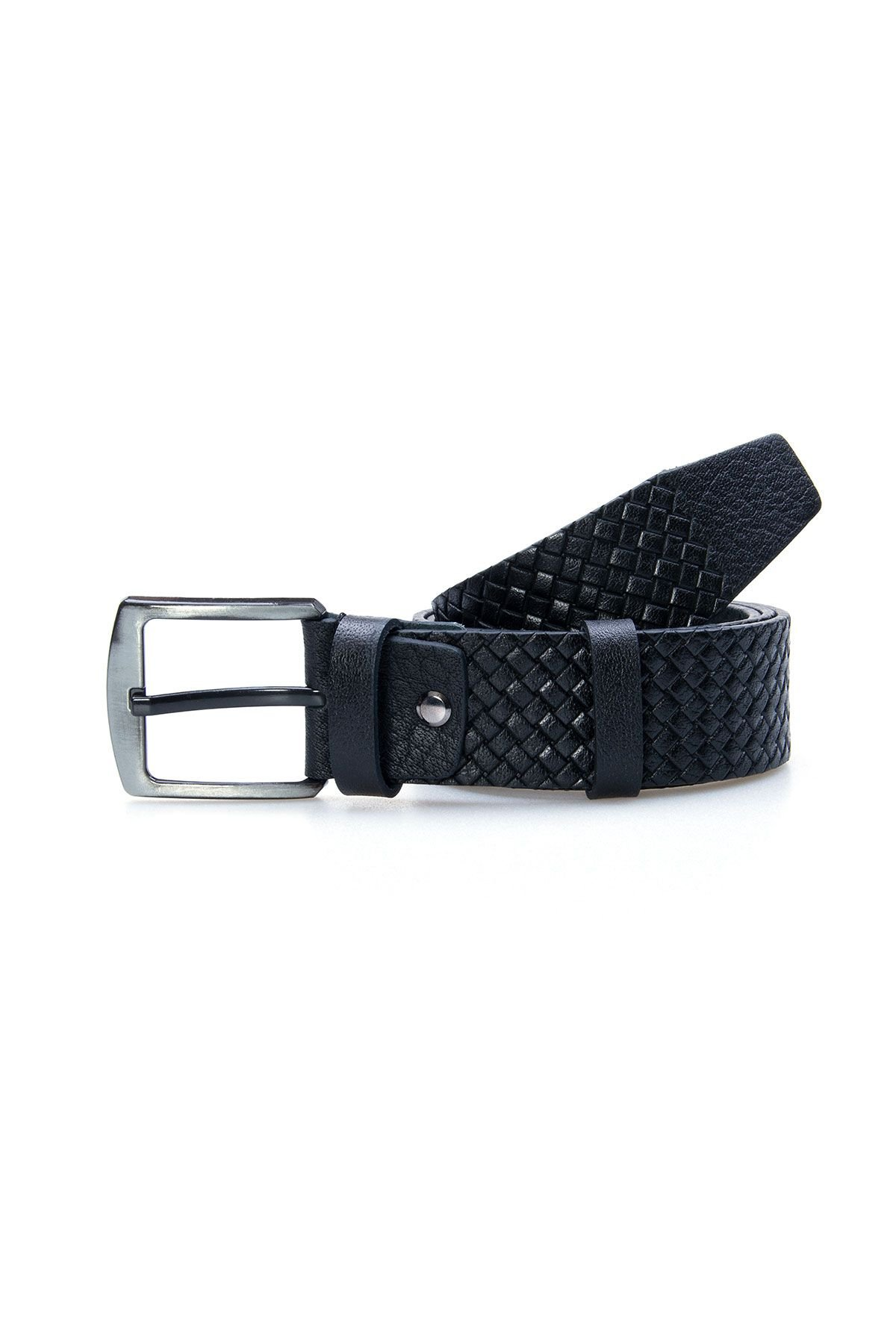 Pegia Genuine Leather Men's Belt 19KMR09 Black