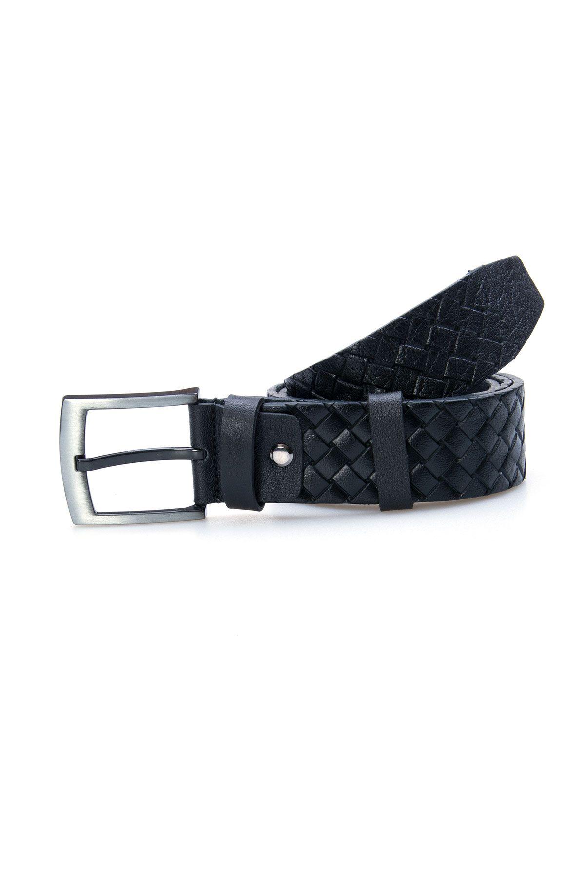 Pegia Genuine Leather Men's Belt 19KMR10 Black