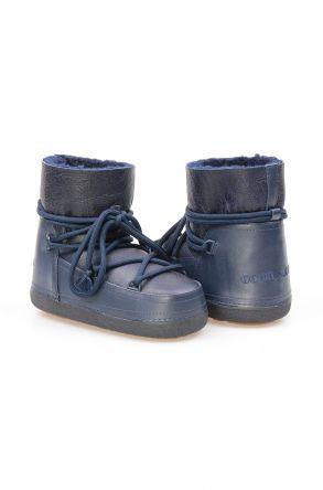 Cool Moon Женские Кожаные Ботинки с Овчинной Подкладкой NY2015 Темно-синий