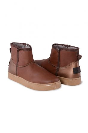 Pegia Women's Boots From Genuine Suede And Sheepskin With A Zip 195015 Ginger