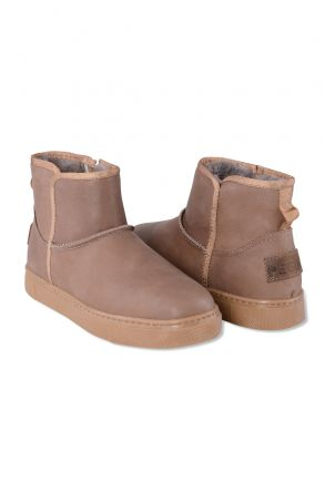 Pegia Genuine Leather & Shearling Women's Boots with a Zip 195020 Sand-colored