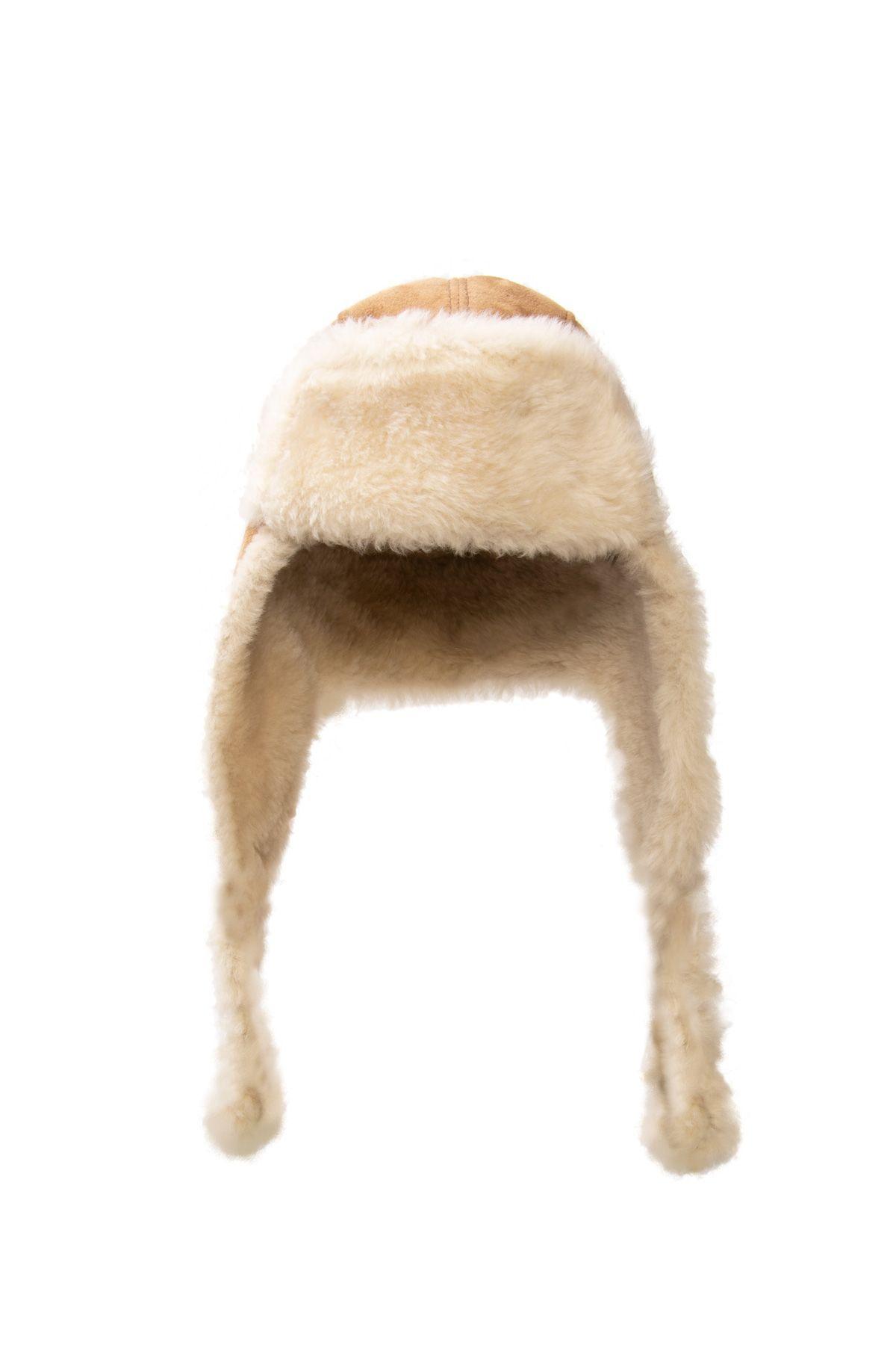 Pegia Hakiki Deri İçi Kürk Kulaklıklı Şapka 18AS19 Kahve