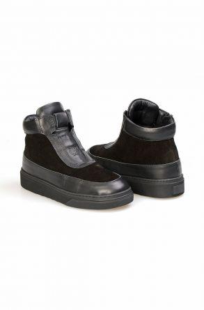 Pegia Women's Genuine Shearling Boots 391020 Black