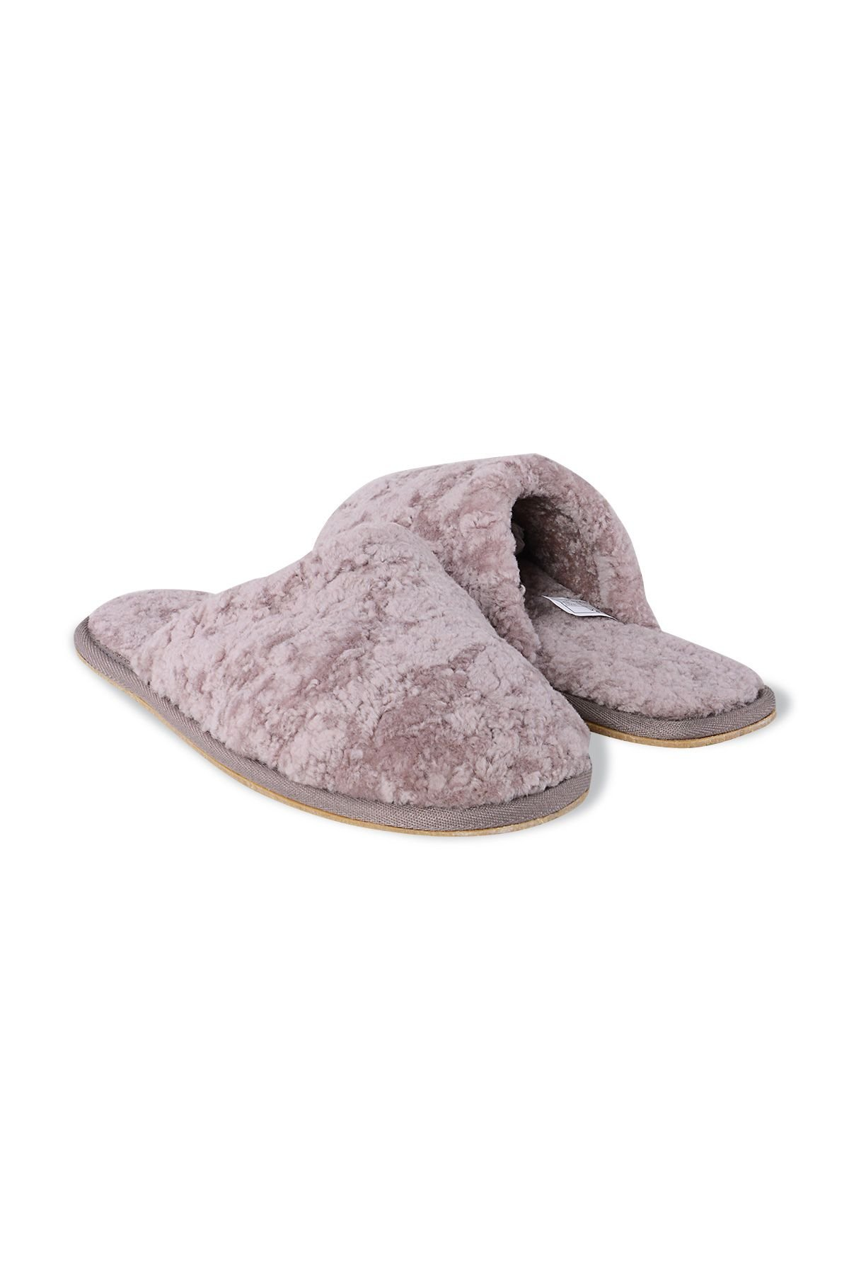 Pegia Genuine Leather & Shearling Women's Slippers 191101 Powdery