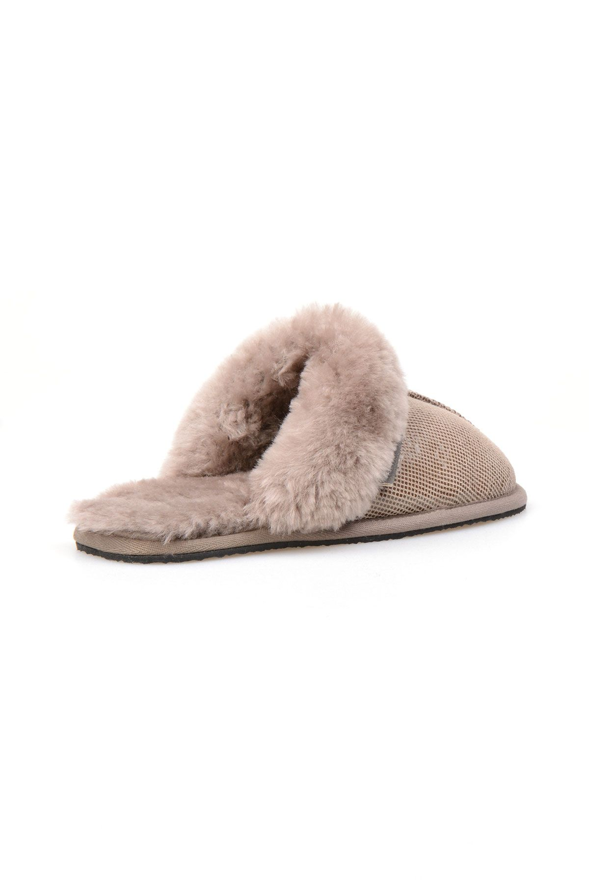 Pegia Genuine Sheepskin Women's House Slippers 191104 Sand-colored