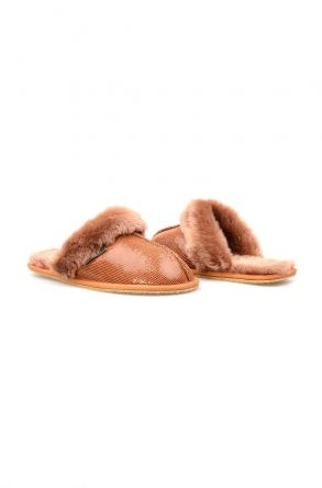Pegia Genuine Sheepskin Women's House Slippers 191104 Ginger