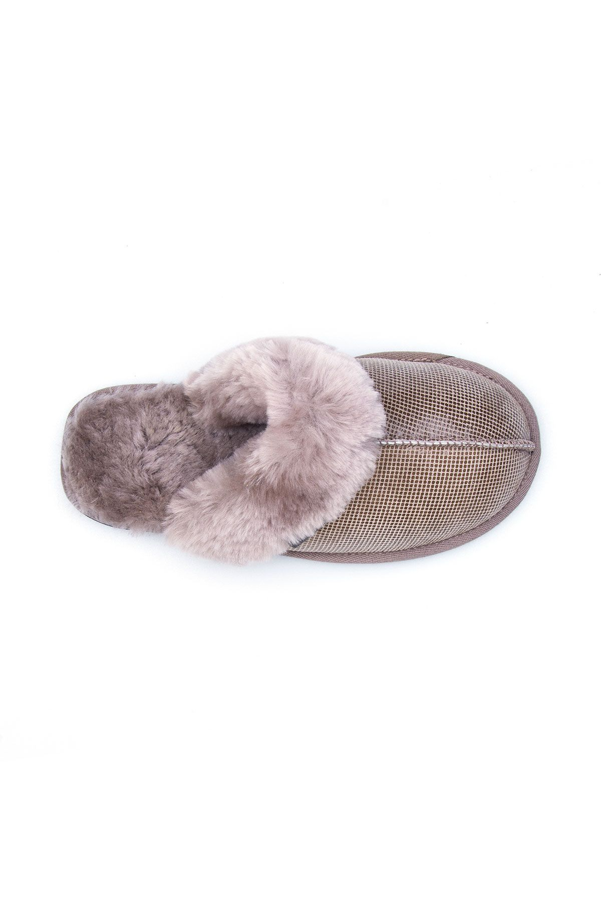 Pegia Genuine Sheepskin Women's House Slippers 191104 Sand-colored