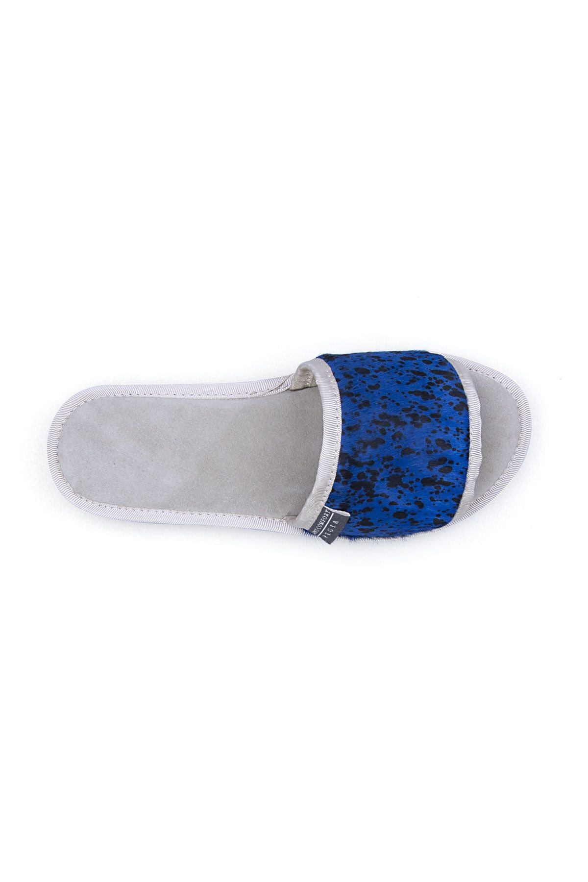 Pegia Genuine Leather Women's House Slippers 191403 Blue