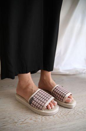 Pegia Genuine Leather Women's House Slippers 191411 Powdery