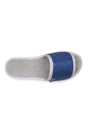 Pegia Genuine Leather Women's House Slippers 191418 Blue