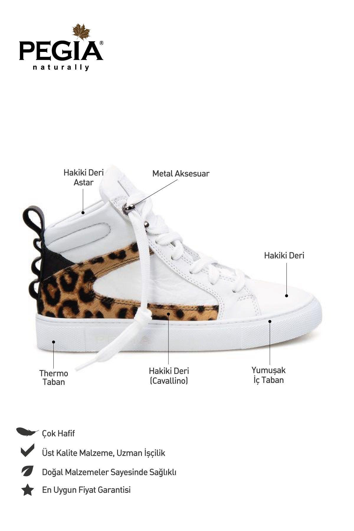 Pegia Genuine Leather Women's Sneaker LA1203 White