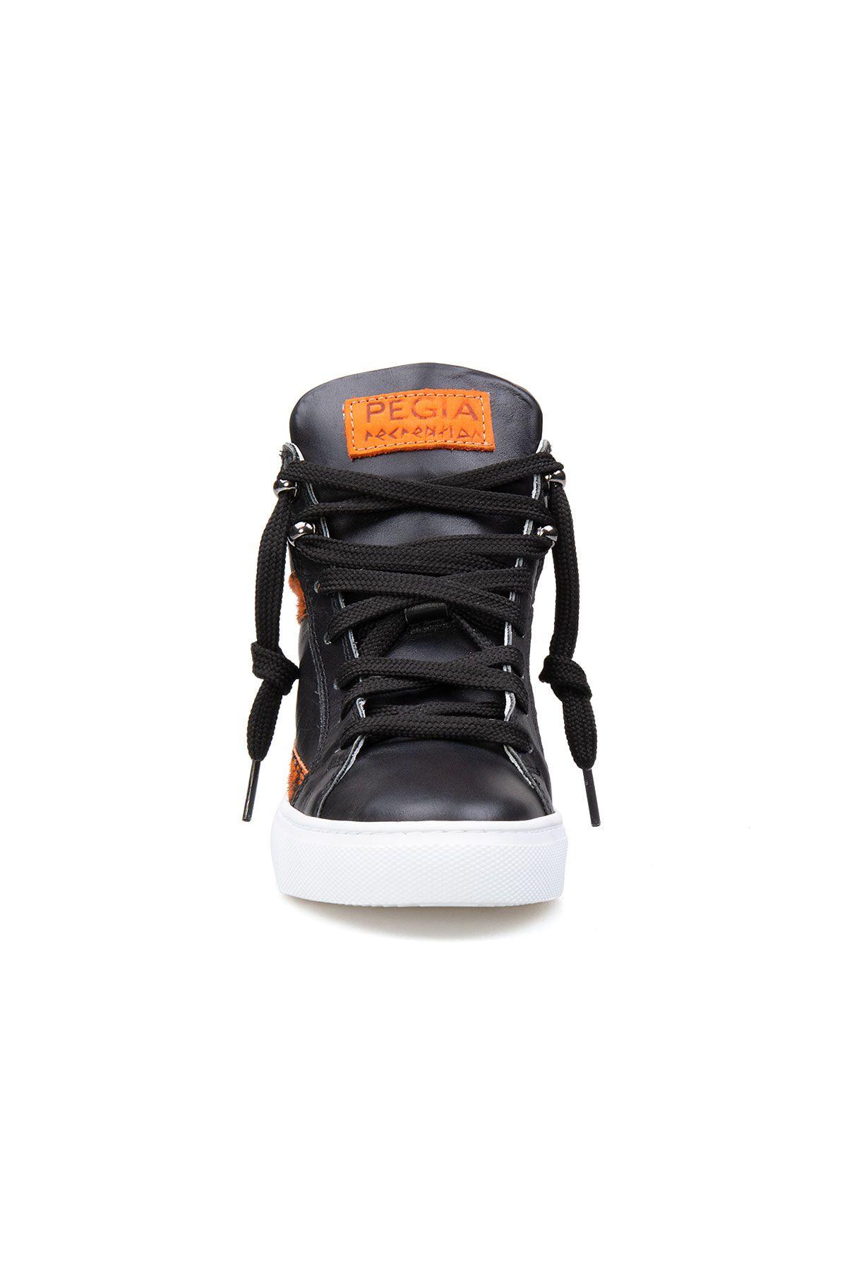Pegia Genuine Leather Women's Sneaker LA1204 Black