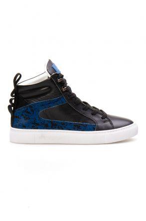 Pegia Hakiki Deri Kadın Sneaker LA1205 Mavi